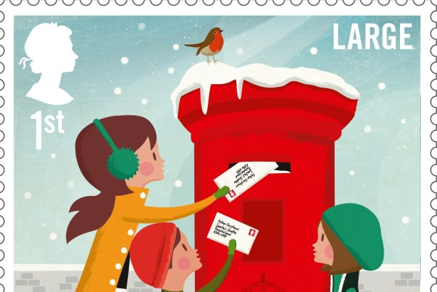 royal mail christmas stamps brought to life on vine - Christmas Stamp