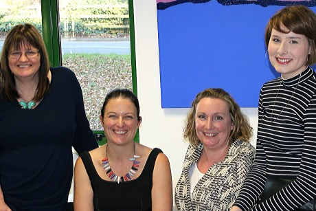 Superdream PR team (l-r): Gill, Francesca, Lisa and Laura