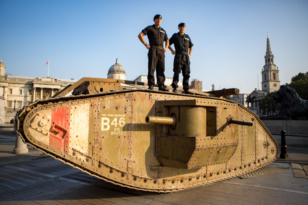 A replica of the Mark IV tank marks 100 years of the tank