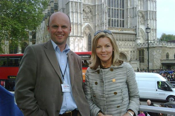 New hire: Tim Singleton, pictured with ITV Evening News presenter Mary Nightingale