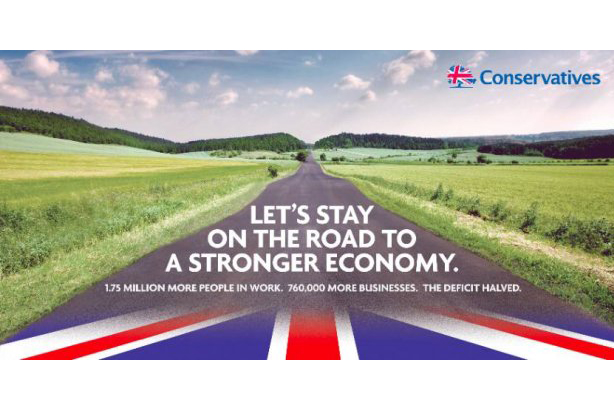 Conservative Party: releases new campaign poster for 2015 general election