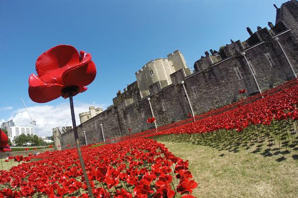 Popular destination: Attraction World sold tickets for the Tower of London poppy exhibition