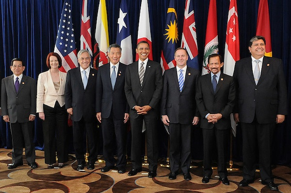 Leaders of the nations that signed the TPP last week (Gobierno de Chile/Wikimedia Commons)