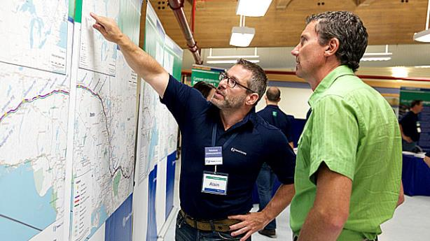 An Energy East open house answering the public's questions about the pipeline project. Photo from TransCanada's Energy East blog