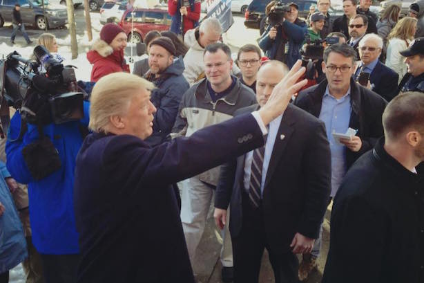 Donald Trump on the campaign trail. (Image via Trump's Facebook page).