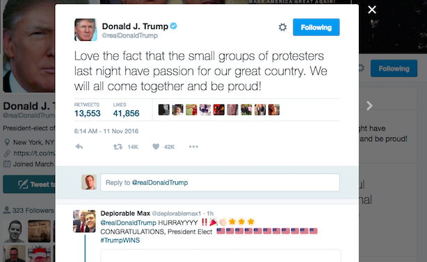 Donald Trump has his Twitter account back. (Screenshot via Twitter).
