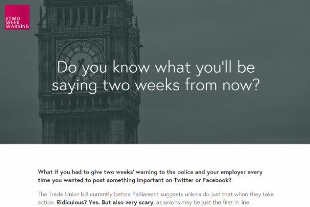 Campaign website criticises the government's proposed social media rules