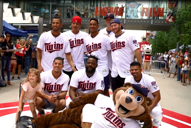Taking it to the streets: Minnesota Twins players enjoy Wiffle ball game with fans