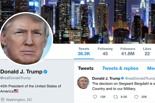 President Trump's Twitter account temporarily disappeared on Thursday.
