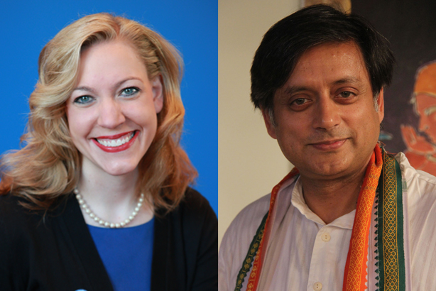 Linder (l) and Tharoor (r) have joined Portland as advisers