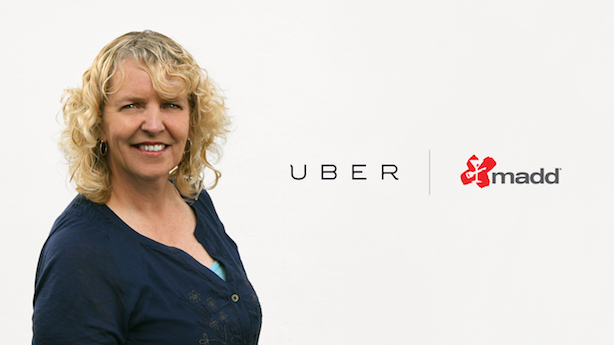Uber driver and former paramedic Janet Weiser, featured in the company's holiday weekend PSAs