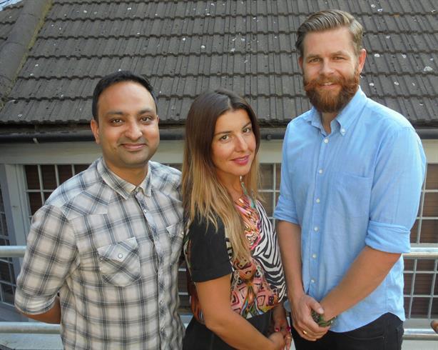 New arrivals: (left to right) Yush Kalia, Estela Drakic and Will Allen