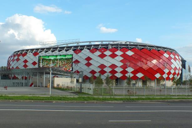 Spartak Stadium in Moscow, a likely venue for 2018 World Cup matches.