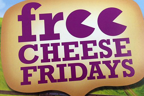 Wyke Farms: Has registered the Free Cheese Friday trademark