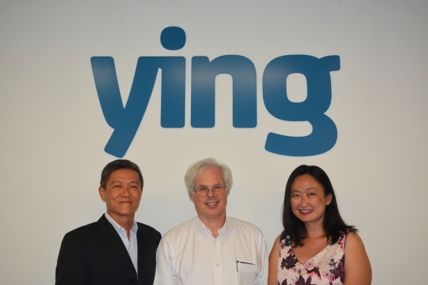 (Left to right) Allan Tan, Peter Finn, and Ying Chin Yeap