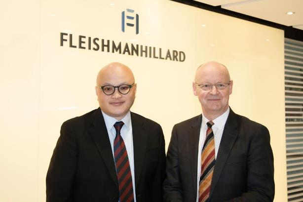 Patrick Yu and Geoff Bilbrough, L-R. (Image via FleishmanHillard).