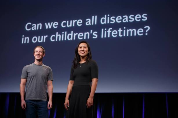 Mark Zuckerberg and Priscilla Chan (Image via the Chan Zuckerberg Initiative's Facebook page).