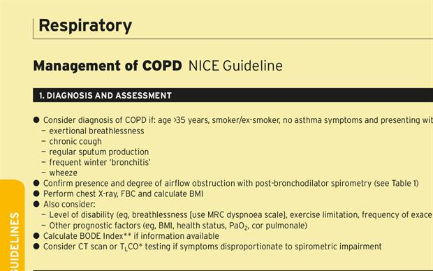 Management Of Copd Nice Guideline Mims Online