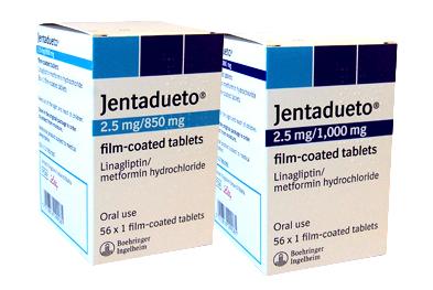 Jentadueto is a new single-tablet treatment option for type II diabetes, taken twice daily.