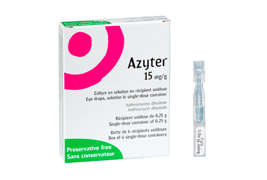 Azyter eye drops are preservative-free.