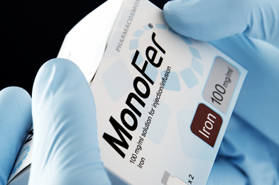 Monofer is available in 1ml, 5ml and 10ml vials containing 100mg/ml iron (III) isomaltoside