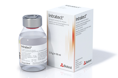 Intratect® is a 5% solution of immunoglobulin G prepared from human plasma.