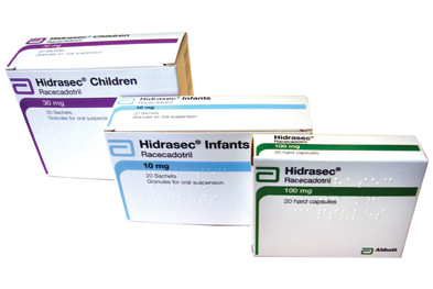 Racecadotril is the only agent licensed in the UK for the treatment of acute diarrhoea in infants and children from three months