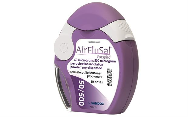 AirFluSal Forspiro is a breath-actuated dry powder inhaler containing the long-acting beta agonist salmeterol and the corticosteroid fluticasone.