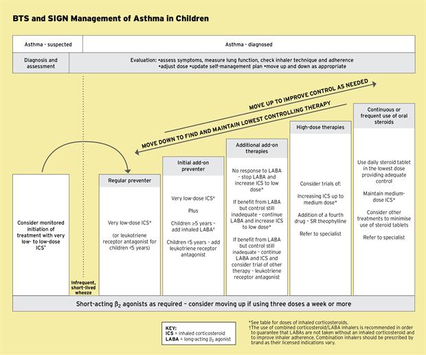 asthma medication chart