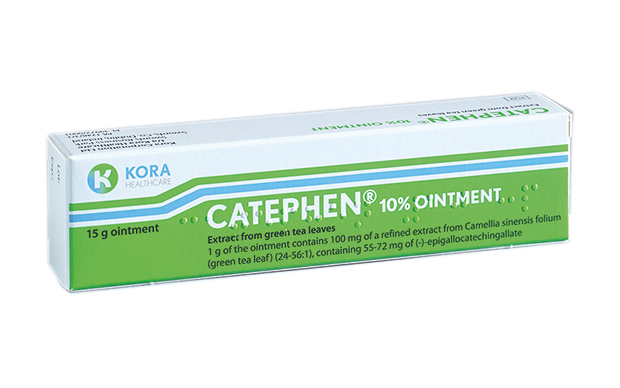 Catephen is applied three times daily for up to 16 weeks.