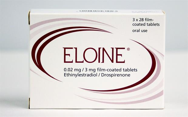 Each pack of Eloine contains 24 light pink f-c tablets (ethinylestradiol + drospirenone) and 4 white f-c tablets (placebo).