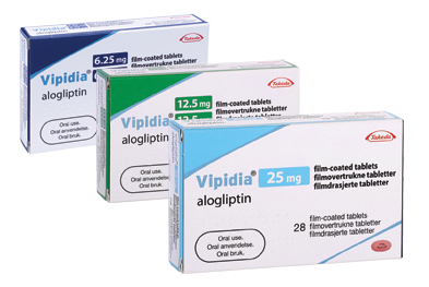 Vipidia (alogliptin) is available in three strengths to allow lower daily doses to be given to patients with varying degrees of renal impairment