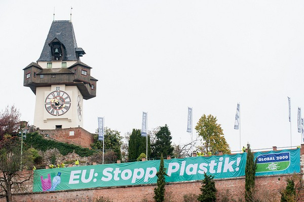 Plastic protest Graz 29102018 Photo-Christoph Liebentritt/Global 2000