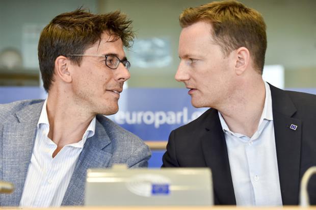20190710 Bas Eickhout and Seb Dance after election ENVI vice-chairs - © European Union 2019 - Eric VIDAL
