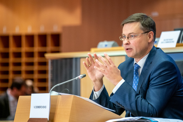 Valdis Dombrovskis parliamentary hearing 2019-10-08 Source: European Parliament