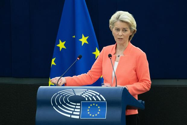"""Von der Leyen: My message today is that Europe is ready to do more… But we expect the United States and our partners to step up too."""" Photo: Philippe Buissin / European Parliament"""