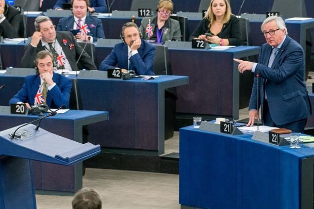 Politics - President Jean-Claude Juncker and Nigel Farage (picture: European Union 2018 - European Parliament)