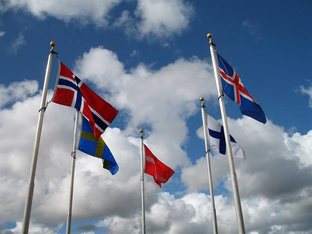 Politics: Nordic flags (Image: miguelb / Flickr)