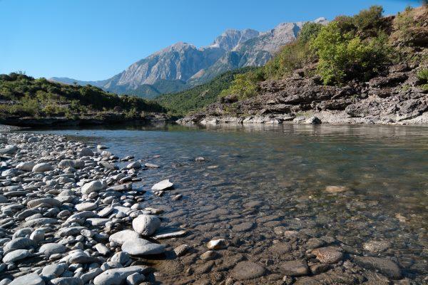 Albanian river Vjosa