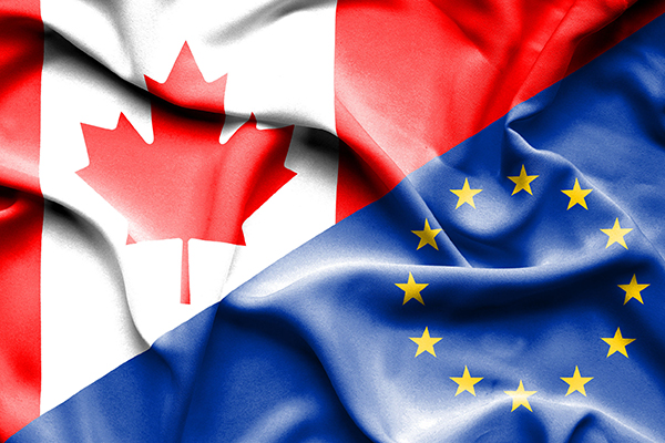Flag: EU/Canadian flag (photograph: Aleksandar Mijatovic/123RF)