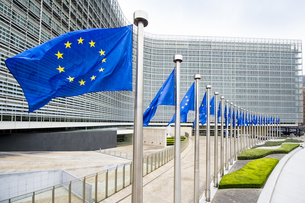 European Commission - European flags in front of the Berlaymont building © European Union , 2016