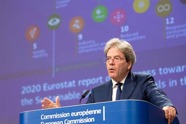 """Gentiloni: EU executive """"fully aware of the necessity to implement these goals in their entirety"""" (Source: EC - Audiovisual Service)"""