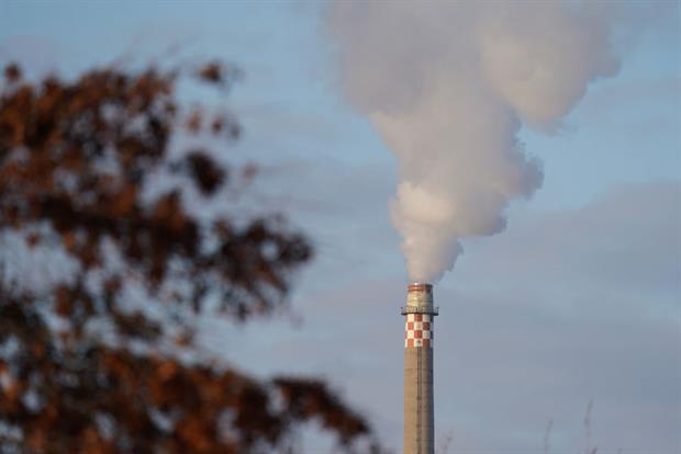 Smoke from a gas-fired power plant in Berlin, February 2021. Gas power overtook lignite as the single largest source of power sector CO2 emissions last year. Photo: Sean Gallup/Getty Images