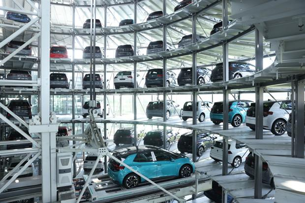 Electric cars fresh off the production line at Volkswagen's Dresden factory. The European Commission is keen to soften the impact of stricter climate policy on households that cannot afford to buy cleaner vehicles. Photo: Sean Gallup/Getty Images