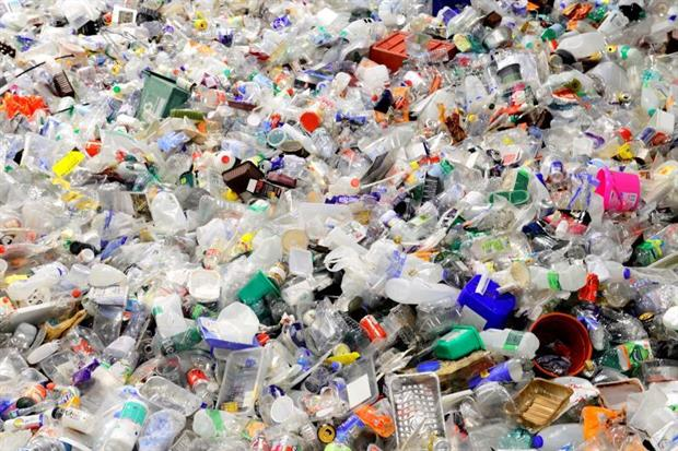 Plastics awaiting recycling. Industry group PlasticsEurope believes that if the EU meets its 55% plastics recycling target, packaging made of 30% recycled plastic is feasible. Photo: Peter Dazeley/Getty Images