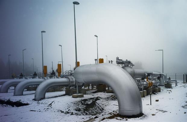 A gas pipeline station in Primda, Czechia. Leaked commission plans could see certain 'gaseous and liquid fuels' labelled as green. Photo: Michal Cizek/AFP via Getty Images