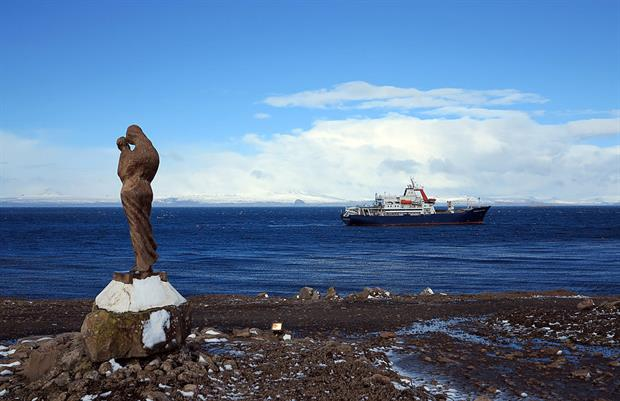 A view from one of the Kerguelen islands, one of the districts of the territory of the French Southern and Antarctic Lands (TAAF). Photo: Sophie Lautier / AFP via Getty