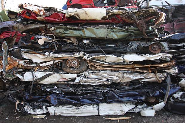 A scrap yard in Essen, Germany. Car manufacturers are among those required to register components containing SVHCs in the new database. Photo: Markus Matzel/ullstein bild via Getty Images