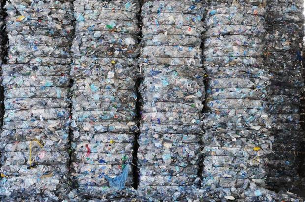 Bales of plastic waste collected by Italian fishermen as part of 'Arcipelago Pulito'. A proposed EU-wide tax is set to come into force from January 2021. Image: Laura Lezza/Getty Images