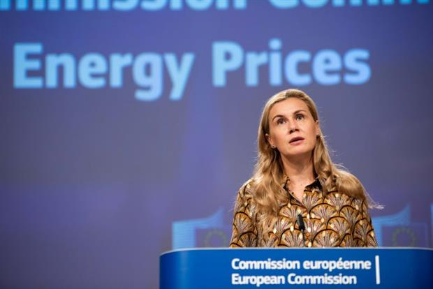"""Energy commissioner Kadri Simson at a press conference on Wednesday: """"Gas has a role in the transition, but at the same time its contribution is bound to change in the long term."""" Photo: Jennifer Jacquemart / EC"""